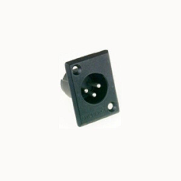 Amphenol AC3MMPB 3 Pin Male XLR Chassis Connector
